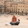 on the central square of Sienna -